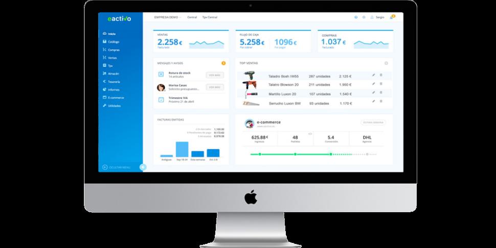 eactivo, programa de facturación, tpv, gestión empresarial, contabilidad y ERP en modalidad nube cloud para usuarios MAC APPLE