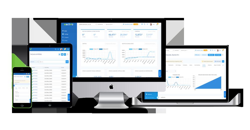 eactivo gestion empresarial multiplataforma pc, tablet, ipad, movil